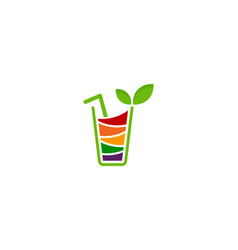 drink fruit logo icon design vector image