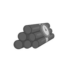 Dynamite icon black monochrome style vector