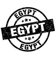 Egypt black round grunge stamp vector