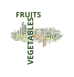 Enrich your diet with fruits and vegetables text vector