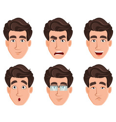face expressions of business man vector image