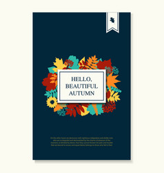 fall of the leaves leaves composition banner vector image