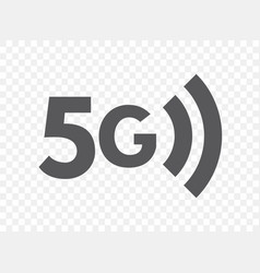 Fifth generation wireless network icon 5g vector