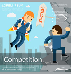 flat business competition template vector image