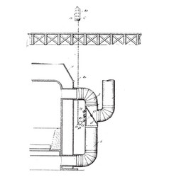 Furnace damper vintage vector