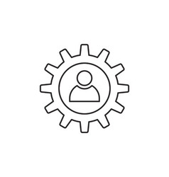 Gear icon outline vector image