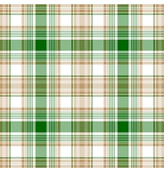 Green gold white check fabric texture seamless vector