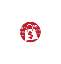 hand bag promotion money in a circle shape vector image