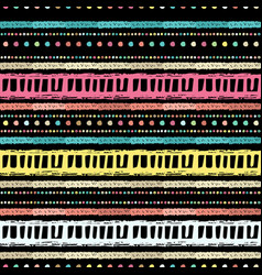 handmade colored stripes bright tribal seamless vector image