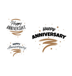 happy anniversary design card hand drawn design vector image