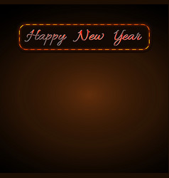 happy new year background golden text for card vector image