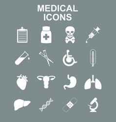 Healthcare and medical icon set vector