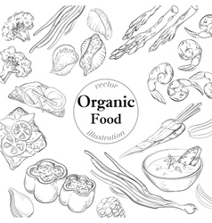 Healthy and Hearty Food Organic restaurant vector image