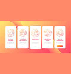 Healthy breastfeeding diet onboarding mobile app vector