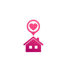 Home with heart icon vector