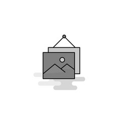 image frame web icon flat line filled gray icon vector image