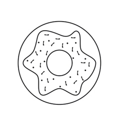 Isolated donut food design vector