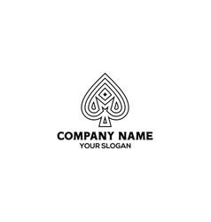 M ace logo design vector