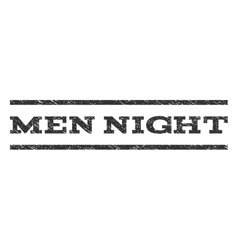 Men night watermark stamp vector