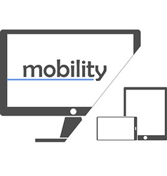 mobility vector image