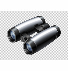 Modern design of binoculars on transparent vector