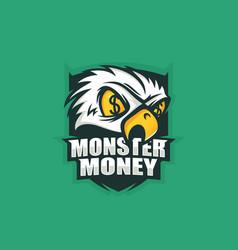 Modern professional logo emblem monster vector