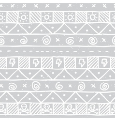 Native skull seamless pattern vector
