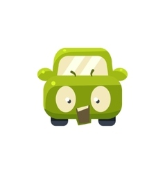 Outraged Green Car Emoji vector image