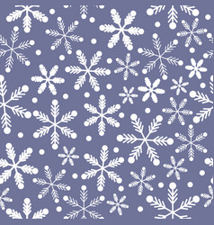 purple blue and white snowflakes vector image