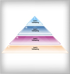Pyramid 4 levels vector