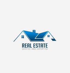 real estate roofs house logo for business vector image
