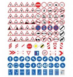 road signs set vector image