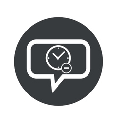 Round reduce time dialog icon vector