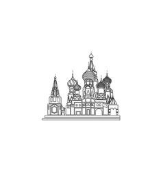 Russia kremlin flat icon vector