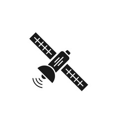 satellite icon design template isolated vector image