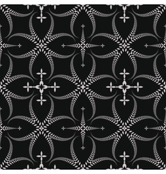Seamless laurel wreath pattern Lace view texture vector