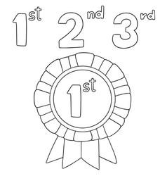 set of ribbons award vector image