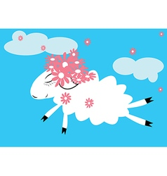 Sheep in the sky vector image