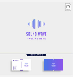 Sound audio wave logo music simple icon sign vector