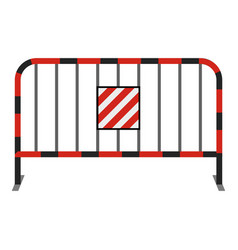 steel barrier icon cartoon style vector image