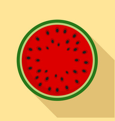 Top view watermelon icon flat style vector