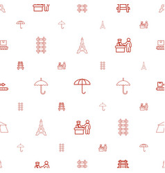 tourist icons pattern seamless white background vector image