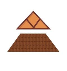 triangular metal house rocartoon architecture vector image