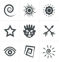 tribal Icons Set Design vector image