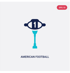 two color american football mark icon from vector image