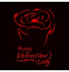 Valentines day rose card vector image