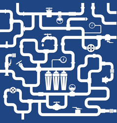 water pipe systems vector image