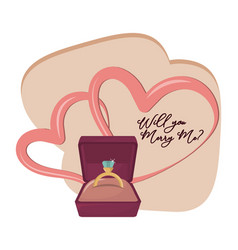 Will you marry me cartoon vector