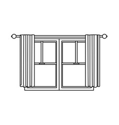 Window home architecture curtain interior image vector