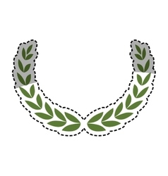Wreath leaves ornament vector image